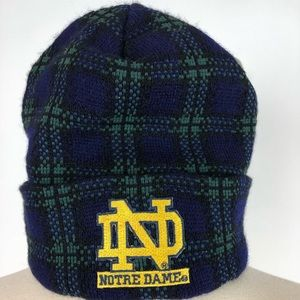 NOTRE DAME CUFFED BEANIE winter knit ski cap hat